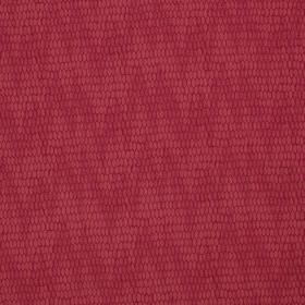 Osprey - Poppy - Raspberry coloured cotton, nylon and polyester blend fabric, printed with uneven, slightly patterned, subtle zigzags