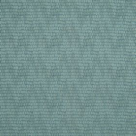 Osprey - Mediterranean - Duck egg blue coloured fabric made with subtle, patterned, uneven zigzags and a mixed cotton, nylon and polyester con
