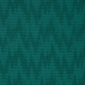 Osprey - Tunisia - Fabric made from cotton, nylon and polyester, with an uneven, patterned zigzag design in two similar rich teal shades