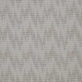 Osprey - Iona - Two very light shades of grey making up a subtle, uneven zigzag pattern on fabric made from cotton, nylon and polyester
