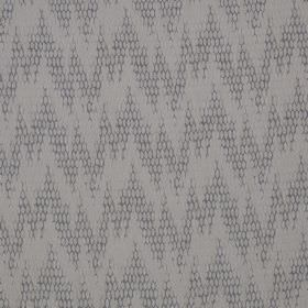 Osprey - Greyling - Cotton, nylon and polyester blend fabric made in two light shades of grey, featuring a random, uneven zigzag pattern