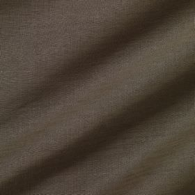 Pelham Silk - Cocoa - Linen and silk blended together into a dark brown-grey coloured fabric