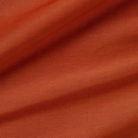 Pelham Silk - Hermes - Dark orange coloured fabric made with a combination of linen and silk