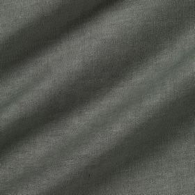 Pelham Silk - Millpond - Battleship grey coloured fabric made from a combination of linen and silk