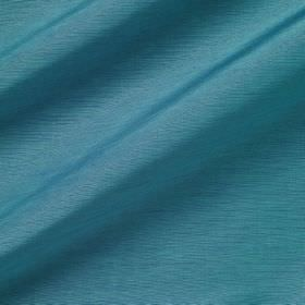 Pelham Silk - Caribbean - Vibrany cyan coloured linen and silk blend fabric