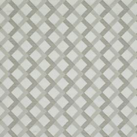 Mews Trellis - Silver - Three different shades of grey making up a bemberg, viscose, linen and PBT blend fabric with a simple grid design