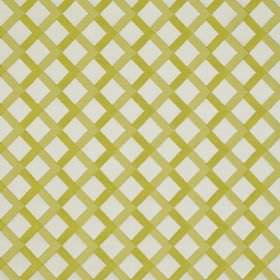 Mews Trellis - Lime - Olive green and very pale grey coloured fabric made from bemberg, viscose, linen and PBT featuring a simple grid print
