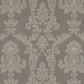 Pimlico - Snakeskin - Two different shades of grey making up a repeated, ornate pattern on fabric made entirely from silk