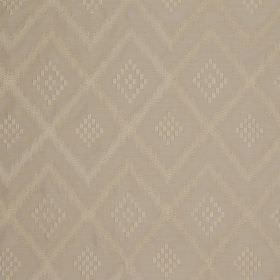 Prism Silk - Rinsed Linen - Diamonds and zigzags making up a very subtle pattern on 100% silk fabric in two similar beige shades