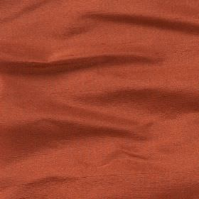 Regal Silk Vol 2 - Burnt Ochre - Plain fabric made from 100% silk in a dark shade of salmon pink