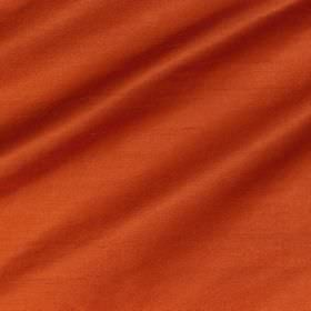 Regal Silk Vol 3 - Indian Orange - Plain fabric made from 100% silk in a vibrant orange colour