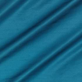 Regal Silk Vol 3 - Mosaic - Vibrant aqua blue coloured fabric made from 100% silk