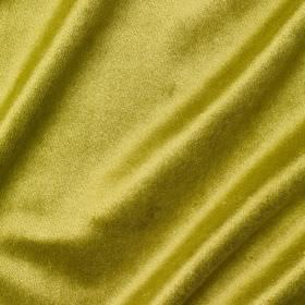 Richmond Velvet - Cocktail - Plain green-gold coloured fabric made with a slight sheen, from a blend of viscose, polyester, cotton, linen an