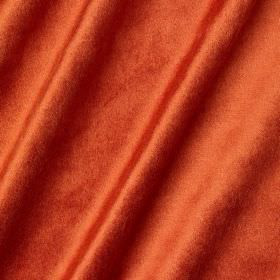Richmond Velvet - Firework - Dark orange coloured fabric made from a combination of different materials and finished with a slightly texture
