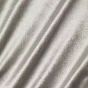 Richmond Velvet - Cirrus - Shiny light silver coloured fabric containing viscose, polyester, cotton, linen and silk