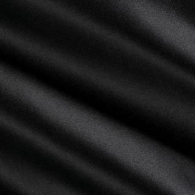 Savoy Silk - Black - Dark raven black coloured fabric containing a blend of cotton and silk