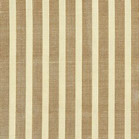 Pavilion Stripe - Muscatelle - Light brown and cream coloured striped 100% silk fabric
