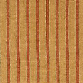 Pavilion Stripe - Honey Glow - 100% silk fabric featuring a simple striped design in terracotta, beige and light orange