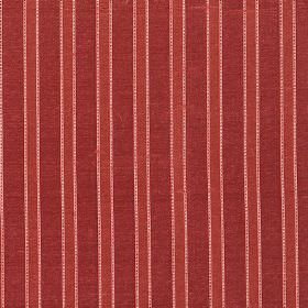 Pavilion Stripe - Peony Pink - Pink and two different shades of red making up a striped design on fabric made entirely from silk