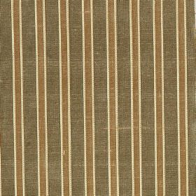 Pavilion Stripe - Dill - Striped fabric made from 100% silk, patterned with alternating bands of grey, brown and off-white