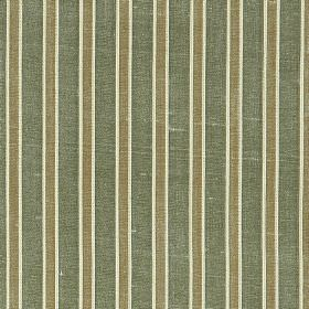 Pavilion Stripe - Green Lily - Grey, white and blue-grey stripes printed vertically down fabric made from 100% silk