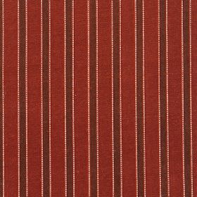 Pavilion Stripe - Garnet - Fabric made entirely from striped silk with a design in three different shades of red