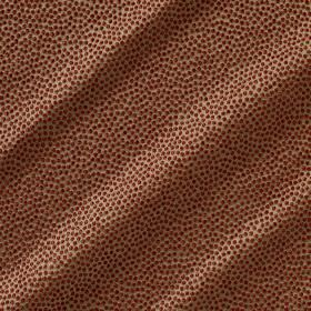 Shagreen Silk - Kilim - Dark red and golden brown dots against a background of cream coloured polyester, silk, wool and acrylic blend fabric