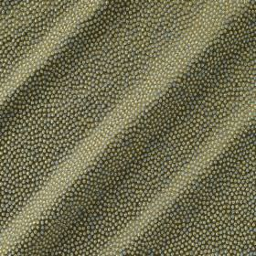 Shagreen Silk - Chameleon - Fabric made from polyester, silk, wool and acrylic in khaki green, covered with tiny dots in pale grey, white an