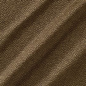 Shagreen Silk - Dapple - Dot print patterned fabric made from polyester, silk, wool and acrylic in various natural earthy brown tones