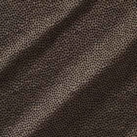 Shagreen Silk - Pepper - Very dark brown and black dots covering a dark grey coloured fabric made from a blend of various different material