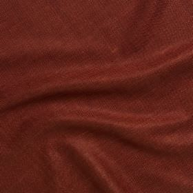Simla Silk - Cayenne - Brick red coloured fabric with a 100% silk content