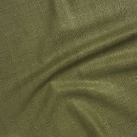 Simla Silk - Connemara - Army green coloured 100% silk fabric