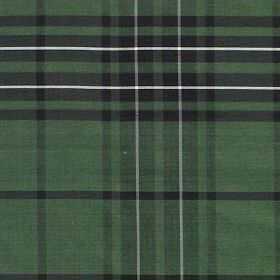 Tartan - Hunting Maclean - Dusky green coloured 100% silk printed with a checked design in white and dark grey