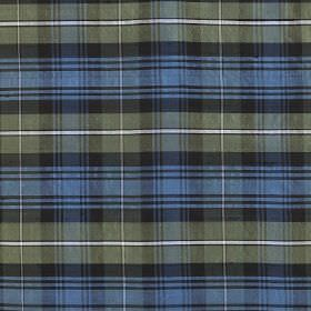 Tartan - Forbes - 100% silk fabric covered with a stylish checked design in light grey, charcoal, cobalt blue and white
