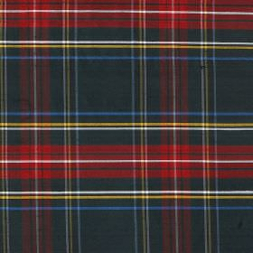 Tartan - Princess Mary - Tartan style patterns printed in red, green, blue, white and yellow on fabric made entirely from silk