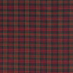 Tartan - Mini Modern Macdonald - Checked 100% silk fabric covered with a small, regular design in reddish pink, purple, green and burnt oran