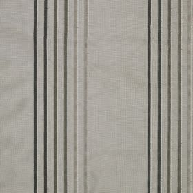 Rumba Stripe - Owl - Light and dark shades of grey making up a thin vertical stripe design on fabric made from viscose and silk