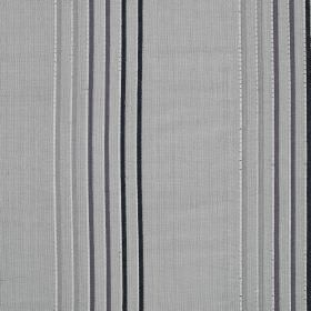 Rumba Stripe - Chrome - Viscose and silk blend fabric featuring a thin, regular, vertical stripe design in black and various shades of grey