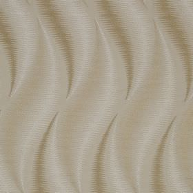 Swing - Caramel - Slightly smudged, elegant, wavy patterns printed in light brown, cream and white on fabric made from 100% cotton