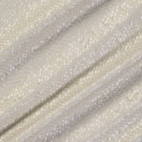 Tesserae Silk - Porcelain - Very subtle scale-like texturing on white fabric made from a combination of polyester and silk