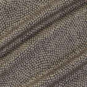 Tesserae Silk - Agate - Fabric made from polyester and silk with a snakeskin style pattern in silver and black