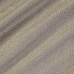 Tesserae Silk - Minnow - Polyester and silk blended together into a silver and grey coloured fabric featuring a small snakeskin style scale pa
