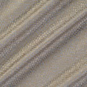 Tesserae Silk - Sunstone - Silver and beige coloured polyester and silk blend fabric covered with a small, snakeskin style design