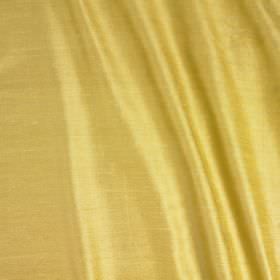 Vienne Silk - Citrus - Butter yellow coloured silk and viscose blend fabric