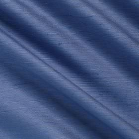 Vienne Silk - 2 Spode - Bright blue fabric containing a blend of both silk and viscose