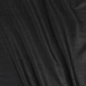 Vienne Silk - Black - Plain fabric made from silk and viscose in graphite