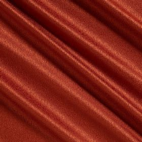 Waterfall Silk - Pimento - Plain silk, polyester and acrylic blend fabric in a fiery orange-red colour