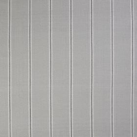 Burn Stripe - Ash - Three different shades of grey making up a design of simple, thin, vertical stripes on fabric made entirely from silk