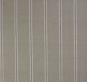Burn Stripe - Linen Grey - Fabric made from light grey, mid-grey and dark-grey striped silk, with a design of evenly spaced thin lines