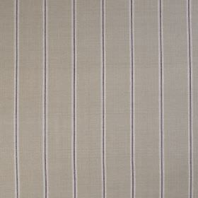 Burn Stripe - Thistle - Pale grey and dark grey lines running vertically down a mid-grey coloured 100% silk fabric background